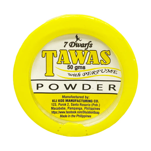 Package 7 Dwarfs Tawas Powder with Perfume 1.7oz Front