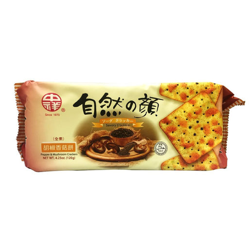 Zhong Xiang Soda Crackers Pepper & Mushroom Flavor 4.23oz Image 1