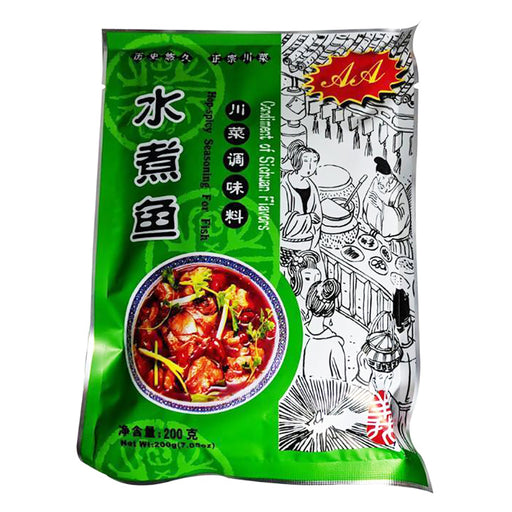 Package AA Sichuan Fish Seasoning Mix Hot & Spicy 7.05oz Front