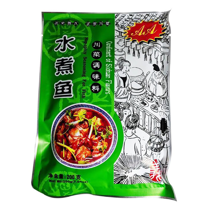 AA Sichuan Fish Seasoning Mix Hot & Spicy 7.05oz Image 1