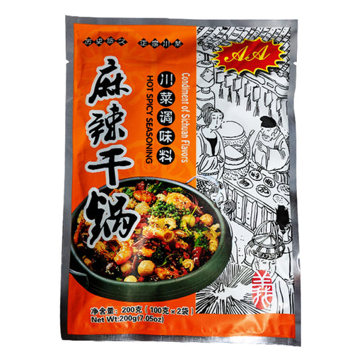 Package AA Stir Fry Seasoning Mix Hot & Spicy 7.05oz Front