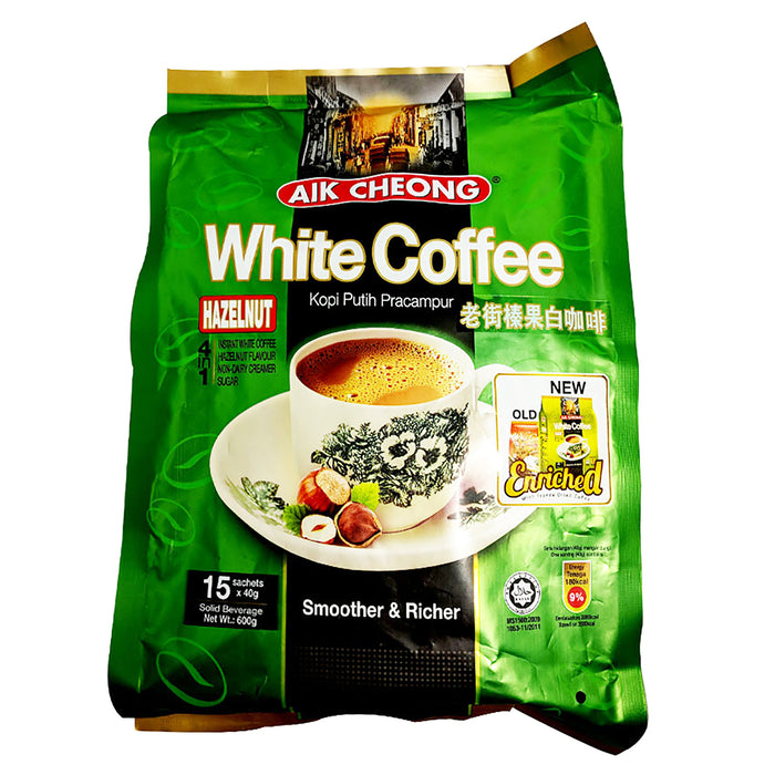 Package Aik Cheong White Coffee Hazelnut Flavor 21.16oz Front