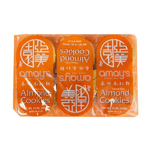Package Amays Almond Cookies 13oz Front