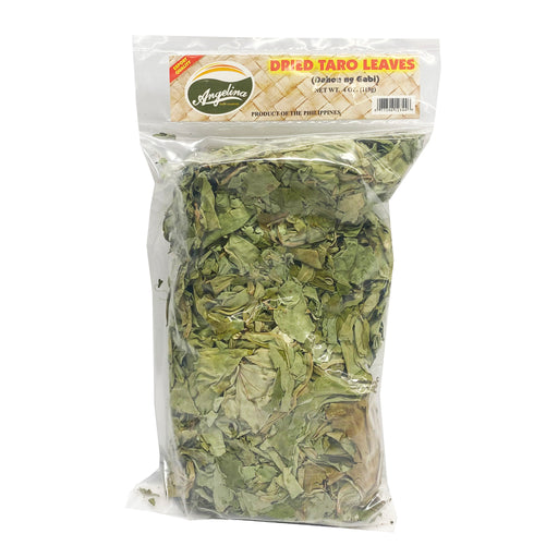 Angelina Dried Taro Leaves 4oz Front
