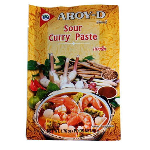 Package Aroy-D Sour Curry Paste 1.76oz Front