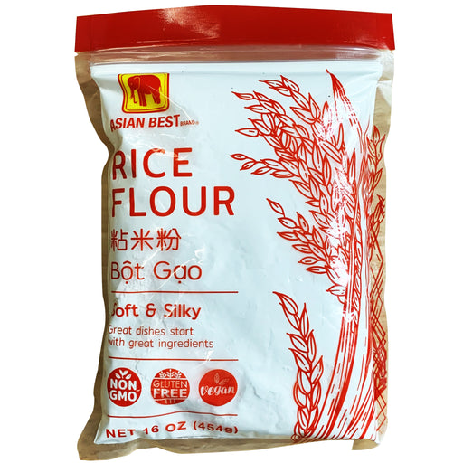 Asian Best Rice Flour 16oz Front