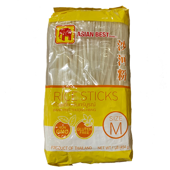 Asian Best Rice Stick - Medium 16oz Front