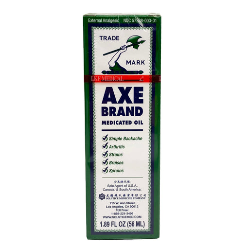 Axe Brand Medicated Oil 1.89oz Front