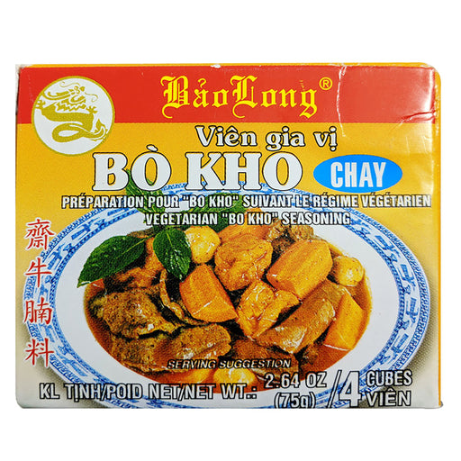 Package Bao Long Bo Kho Seasoning 2.64oz Front