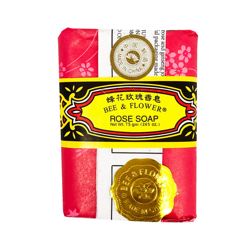 Bee & Flower Rose Soap 2.65oz Front