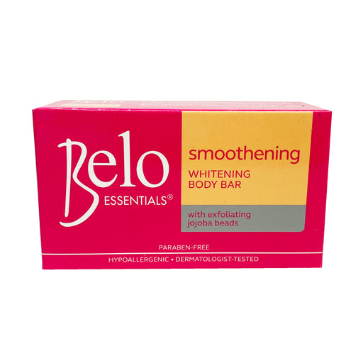 Package Belo Smoothening Whitening Body Bar Soap (Pink) 4.76oz Front
