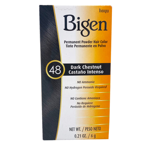 Bigen Permanent Powder Hair Color - 48 Dark Chestnut 0.21oz Image 1