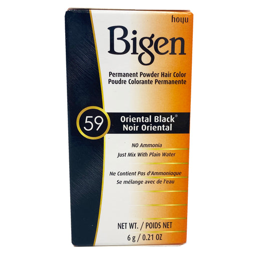 Bigen Permanent Powder Hair Color - 59 Oriental Black 0.21oz Image 1