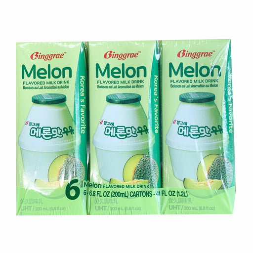 Package Binggrae Milk Drink Melon Flavor 6 Pack Front
