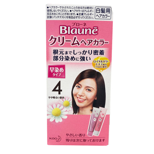 Package Blaune Treatment Cream Hair Color - 4 Slightly Bright Sorrel 1.4oz Front