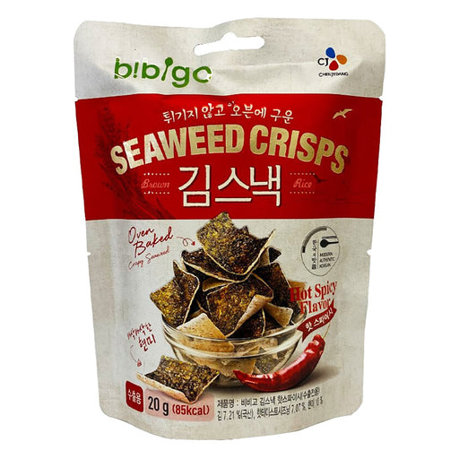 CJ Bibigo Seaweed Crisps - Hot & Spicy Flavor 0.7oz Front