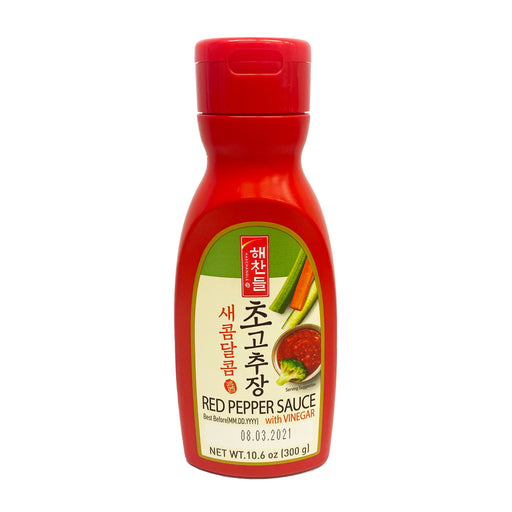 CJ Haechandle Red Pepper Sauce with Vinegar 10.6oz Front