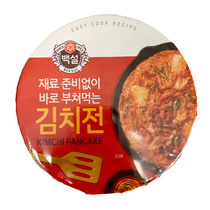 Package CJ Kimchi Pancake Mix Cup 7.41oz Front