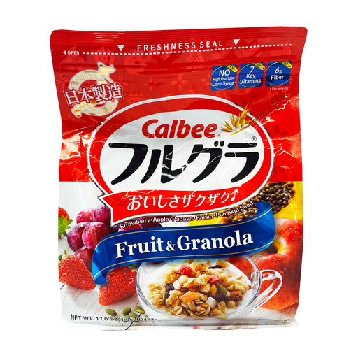 Calbee Fruit Granola Cereal 17oz Front