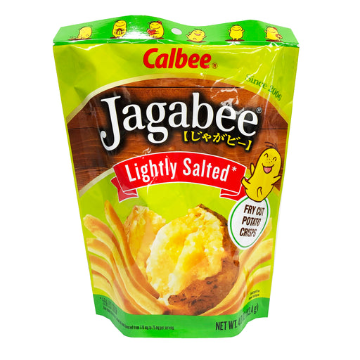 Package Calbee Jagabee Potato Sticks - Lightly Salted Flavor 4oz Front