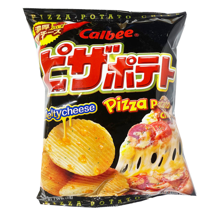 Calbee Pizza Potato Chips Melty Cheese 2.54oz Front
