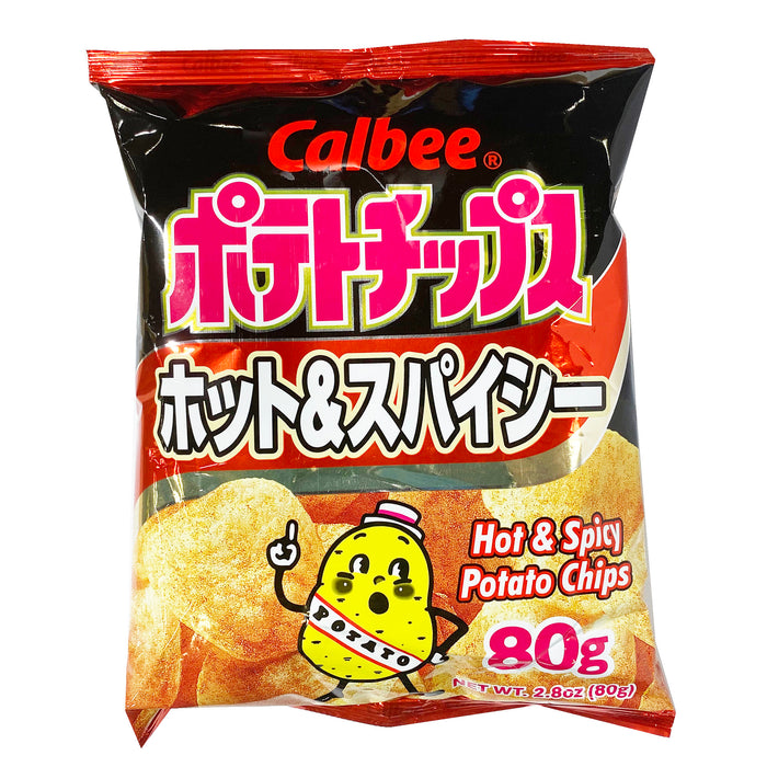 Calbee Potato Chips Hot & Spicy 2.8oz