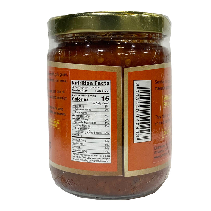 Package Cap Ibu Sambal Bakso (Chili Sauce) 8.1oz Back