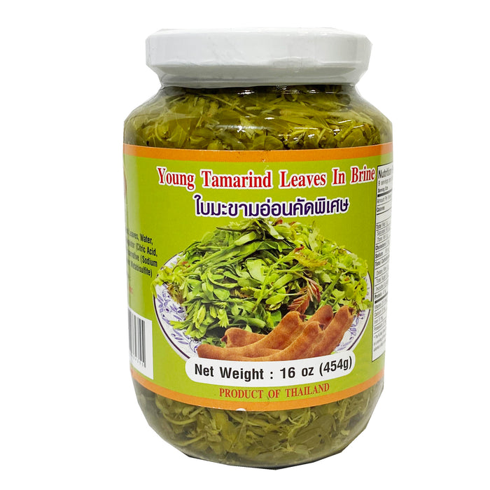 Cathy Young Tamarind Leaves In Brine 16oz Front