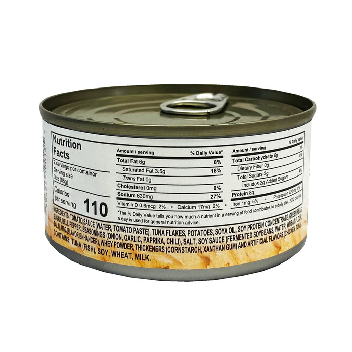 Package Century Tuna Afritada Style 6.4oz Back