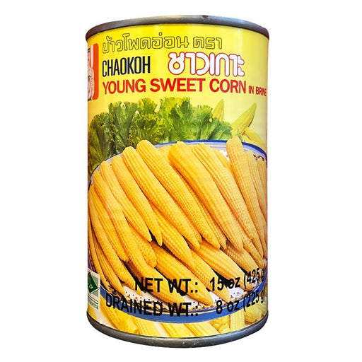 Chaokoh Young Sweet Corn In Brine 15oz Front