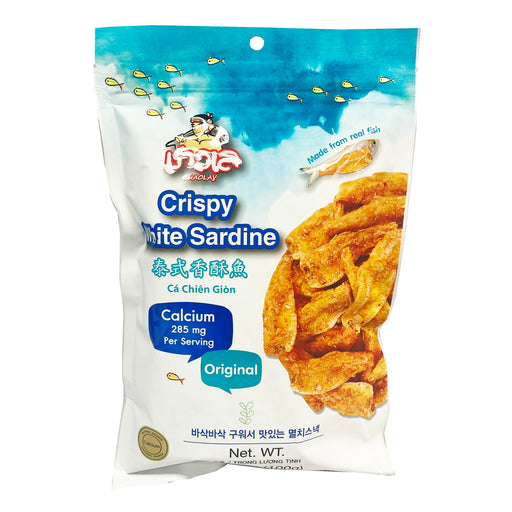Package Chaolay Crispy White Sardine - Original Flavor 3.53oz Front