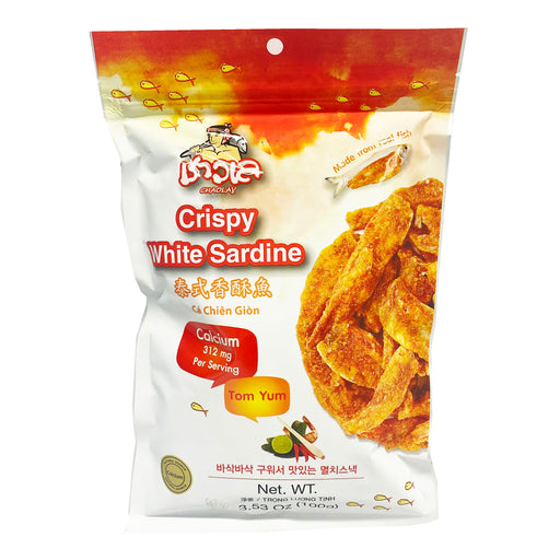 Package Chaolay Crispy White Sardine - Tom Yum Flavor 3.53oz Front