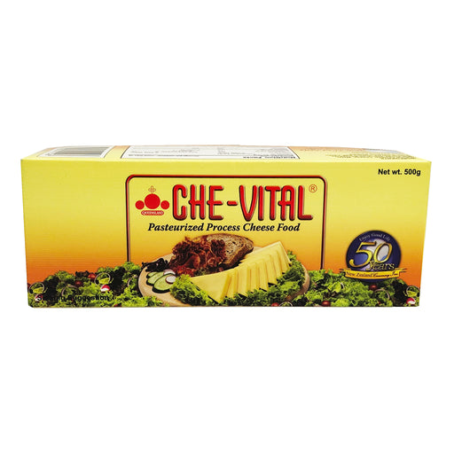 Che-Vital Pasteurized Process Cheese 17.6oz Front
