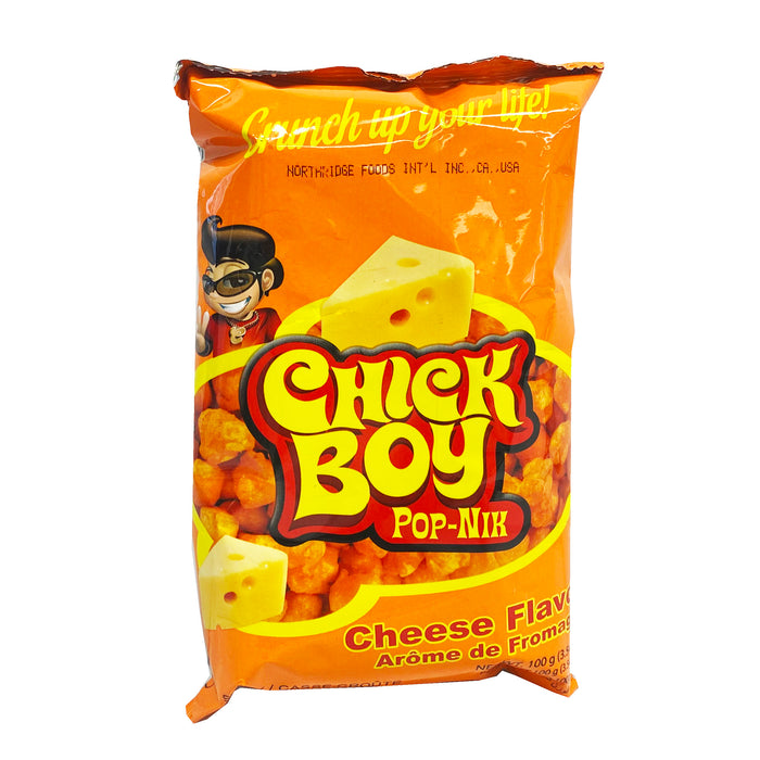 Package Chick Boy Pop-Nik - Cheese Flavor 3.54oz Front