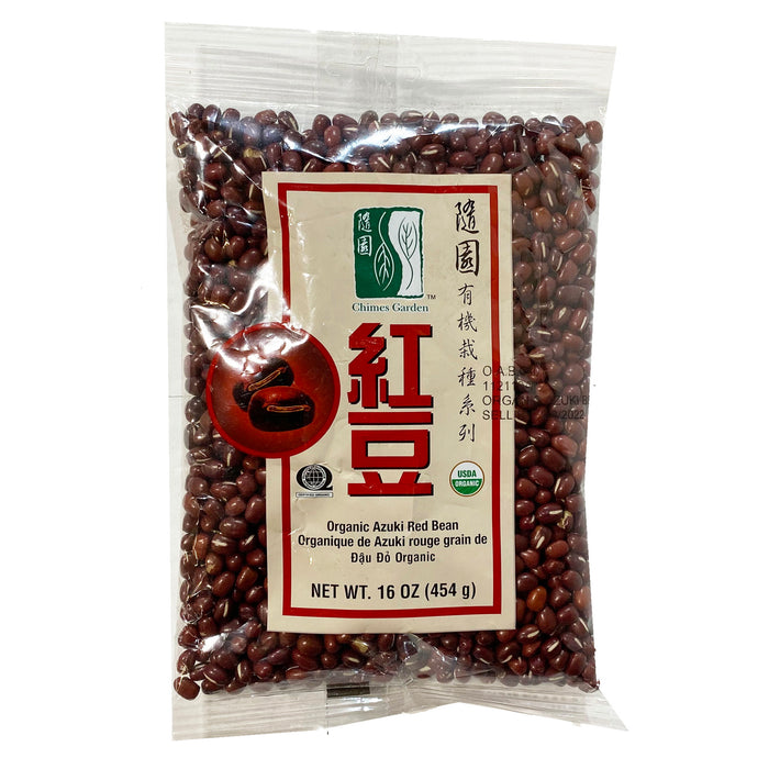 Package Chimes Garden Organic Azuki Red Bean 16oz Front