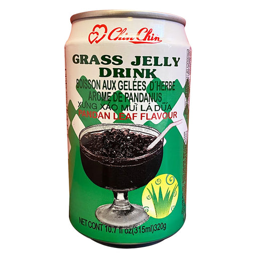 Chin Chin Grass Jelly Drink - Pandan Flavor 11oz Front