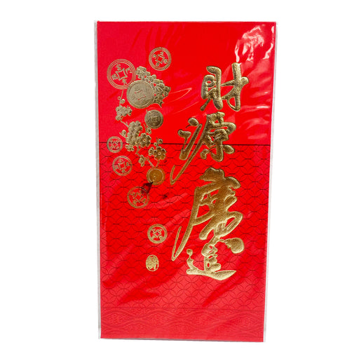Chinese Red Envelope Lucky Hong Bao with Lucky Coins Long Size 6pcs image 1