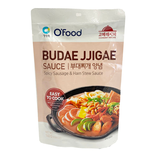 Chung Jung One Budae Jjigae Sauce - Spicy Sausage and Ham Stew Sauce 4.94oz Front