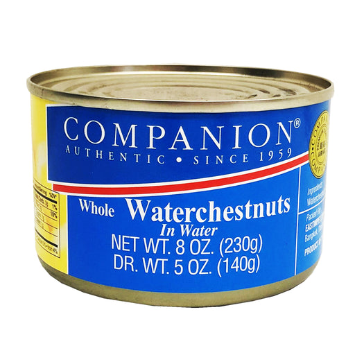 Companion Whole Water Chestnuts in Water 8oz Image 1