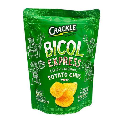 Crackles Bicol Express Potato Chips 2.1oz Front