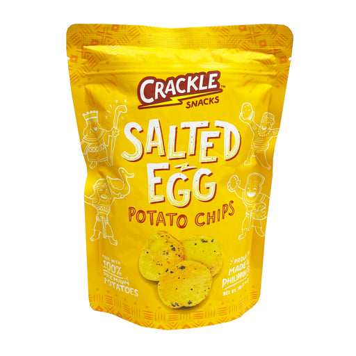 Crackles Salted Egg Potato Chips 2.4oz Front