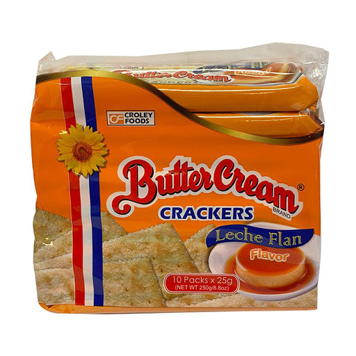 Package Croley Foods Sunflower Crackers Butter Cream - Leche Flan 8.8oz Front