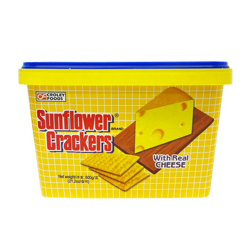 Croley Foods Sunflower Crackers - Cheese Flavor 21.2oz Front
