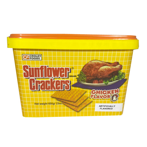 Croley Foods Sunflower Crackers - Chicken Flavor 28.2oz Front