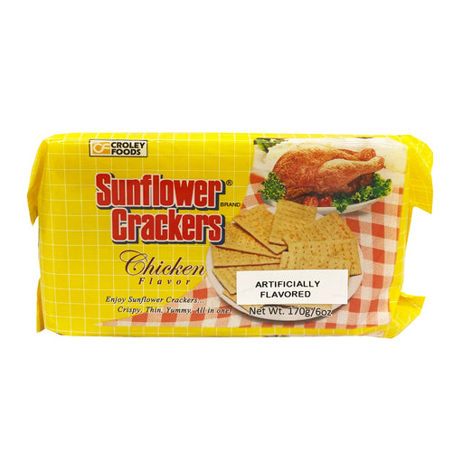 Croley Foods Sunflower Crackers - Chicken Flavor 6.7oz Front