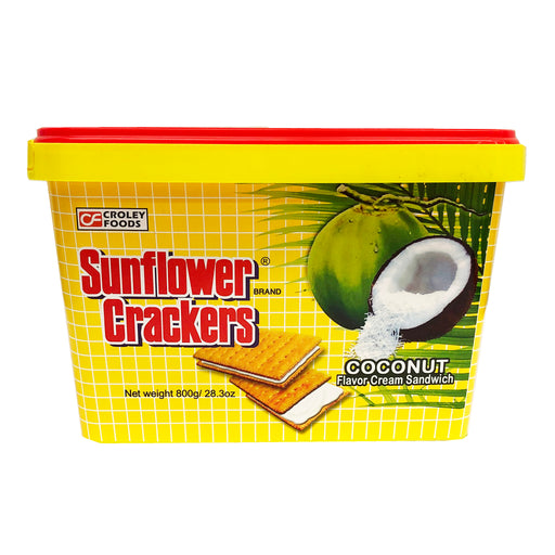 Croley Foods Sunflower Crackers - Coconut Flavor 28.3oz Front