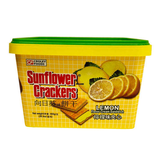 Package Croley Foods Sunflower Crackers-Lemon Flavor 28.3oz Front