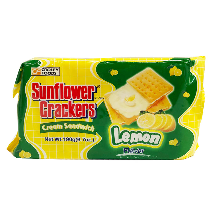 Croley Foods Sunflower Crackers - Lemon Flavor 6.7oz Front