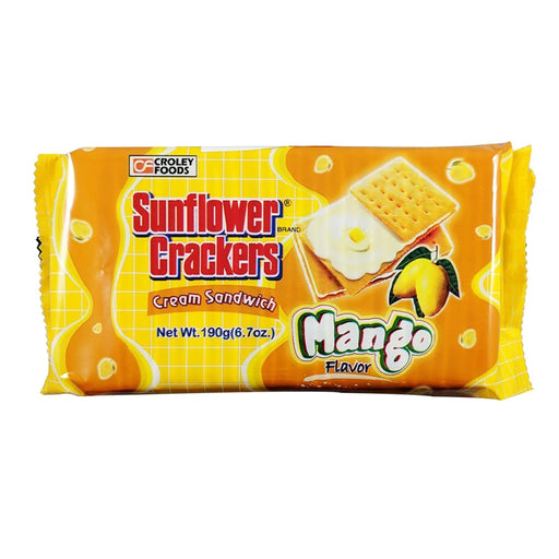 Croley Foods Sunflower Crackers - Mango Flavor 6.7oz Front