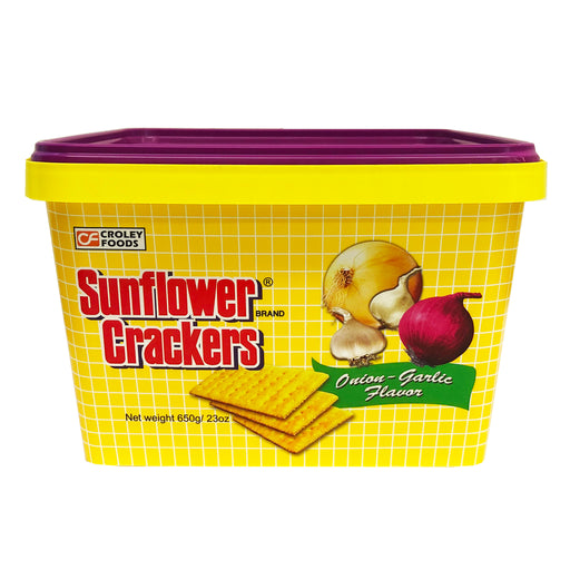 Croley Foods Sunflower Crackers - Onion Garlic Flavor 23oz Front